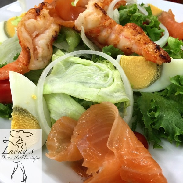 Salmon & Shrimp Salad