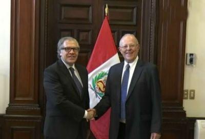 El secretario general de la OEA se reúne con Kuczynski por Cumbre de las Américas
