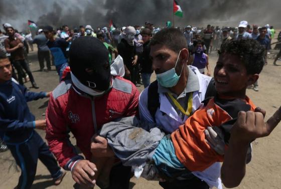 protesta-sangrienta-en-gaza-58-palestinos-murieron-y-hay-mas-de-2-000-heridos