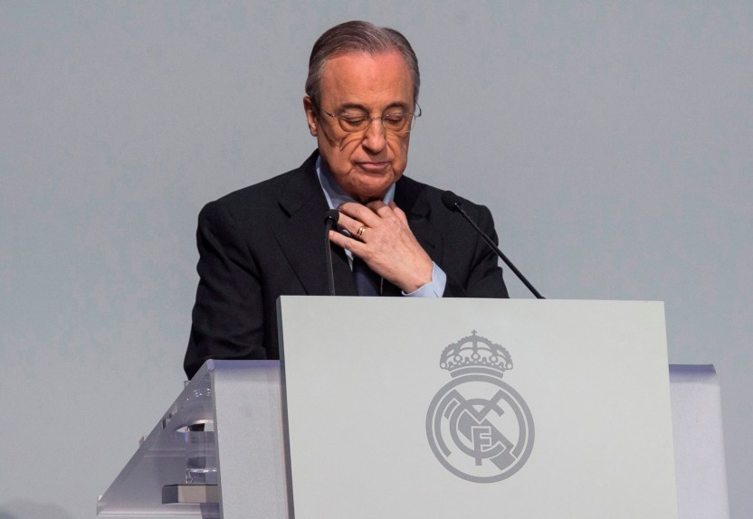 florentino 0202 efe - Florentino Pérez, presidente del Real Madrid, positivo por COVID-19