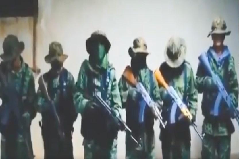 VIDEO  CJNG anuncia su llegada al territorio del Ca%CC%81rtel de Sinaloa se deslinda de muerte de padre y colgados - FOTO: CJNG anuncia que se acabó la tregua en ciudad fronteriza de Tijuana
