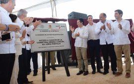Más carreteras y caminos que mejoran la conectividad y generan oportunidades para la gente: Carlos Joaquín