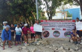Protestan deportistas contra Fonatur en el KM 0