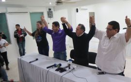 Con mucho misterio, MORENA, PT y PES inscriben alianza