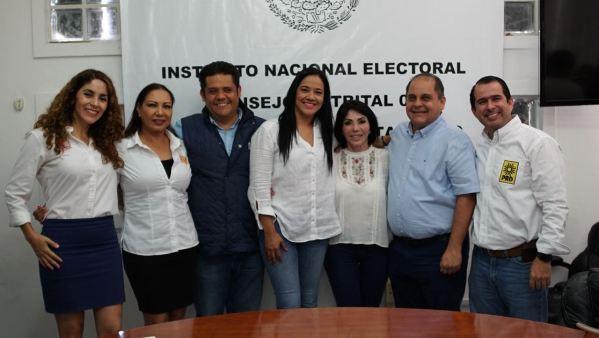 Se registran primeros candidatos federales de las diversas alianzas