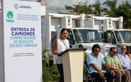 Ocho nuevos camiones de basura para Solidaridad
