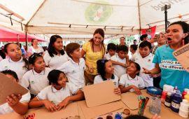Promueve Solidaridad educación ambiental y separación de residuos en estudiantes de primarias