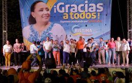 Realiza Cristina cierre de campaña multitudinario
