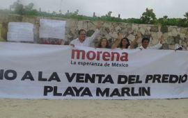 Marybel y morenistas, contra venta de playa Marlin