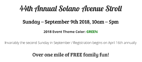 Join Us at the 44th Annual Solano Avenue Stroll!