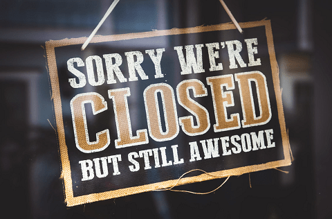 Closed on Sunday (11/4) for a Private Event.