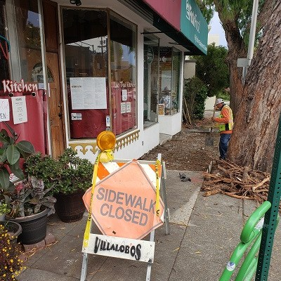 Closed on 8/18 Due to Safety During Sidewalk Repair Construction