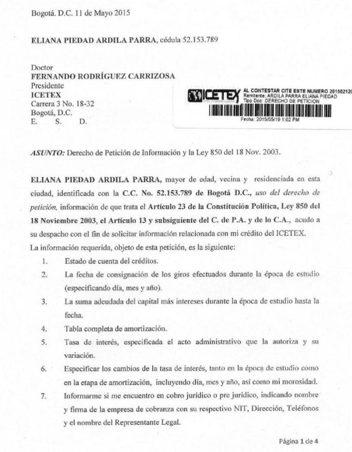 Derecho de Peticion 001