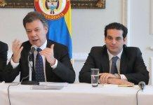 Juan Manuel Santos y Simón Gaviria