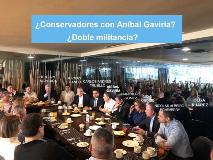 Conservadores con Gaviria