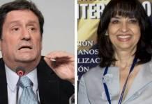 Pacho Santos y Claudia Blum