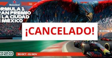 Se cancela la Fórmula 1 en México, edición 2020