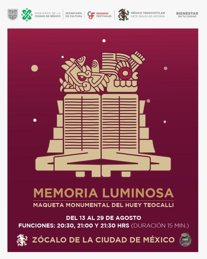 Imagen: Cartel Memoria Luminosa / fechas 7 Gobierno CDMX