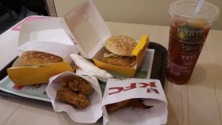 2 sammiches and 1 crispy side and 1 grilled side