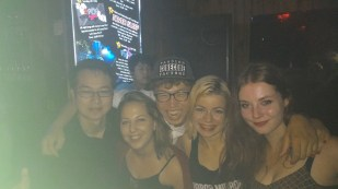 Us and our new friend, the Korean guy in the middle named Iasaac