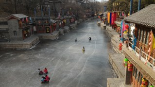 """This is """"Suzhou Street"""" a street simulating the look and feel of Suzhou..."""