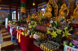 Inside the Buddhist temple