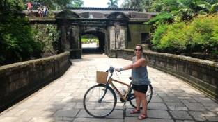 Me and my bamboo bike