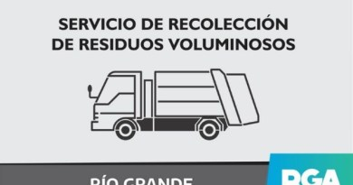 El Municipio de Río Grande informa modificaciones en el Servicio de Recolección de Residuos Voluminosos para los B° de Margen Sur