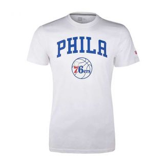 Camiseta New Era Logo Tee Philadelphia 76ers