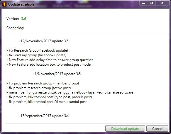 Advance group poster versi 3.6 update