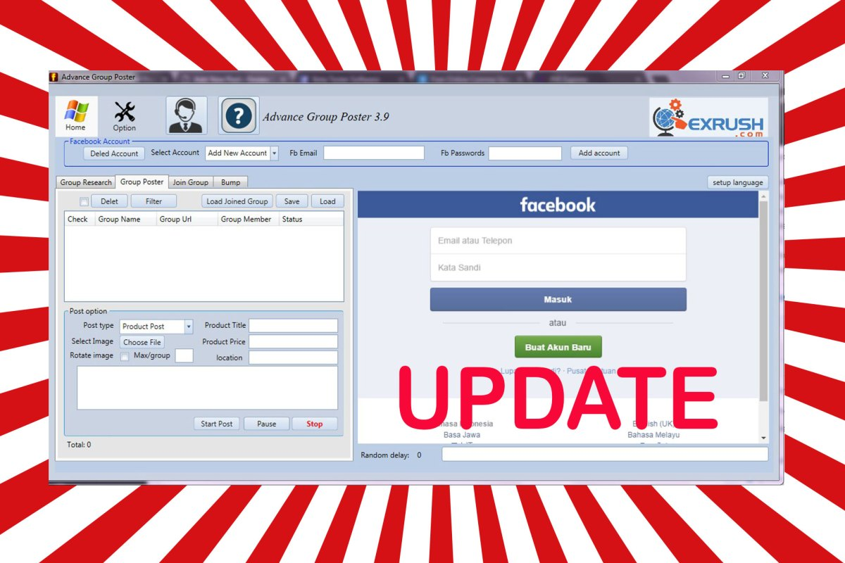 Terbaru Update Auto Post Grup Facebook 2018 Versi 3.09