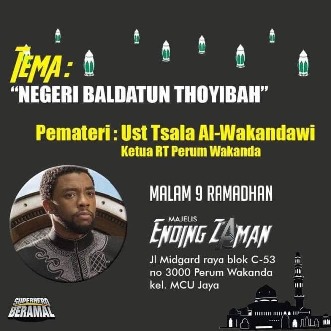 Negeri Baldatun Thoyibah, Pematerinya ust Tsala Al-Wakandawi, ketua RT Perum Wakanda.