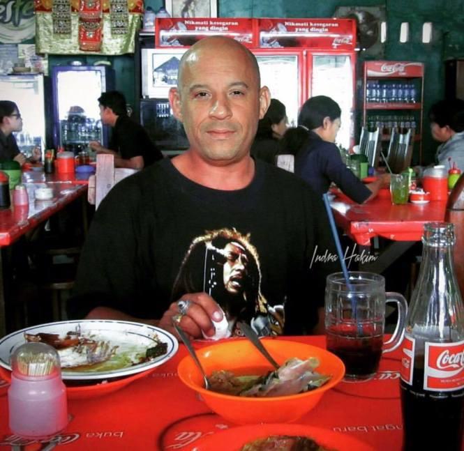 Dominic toreto, abis makan soto