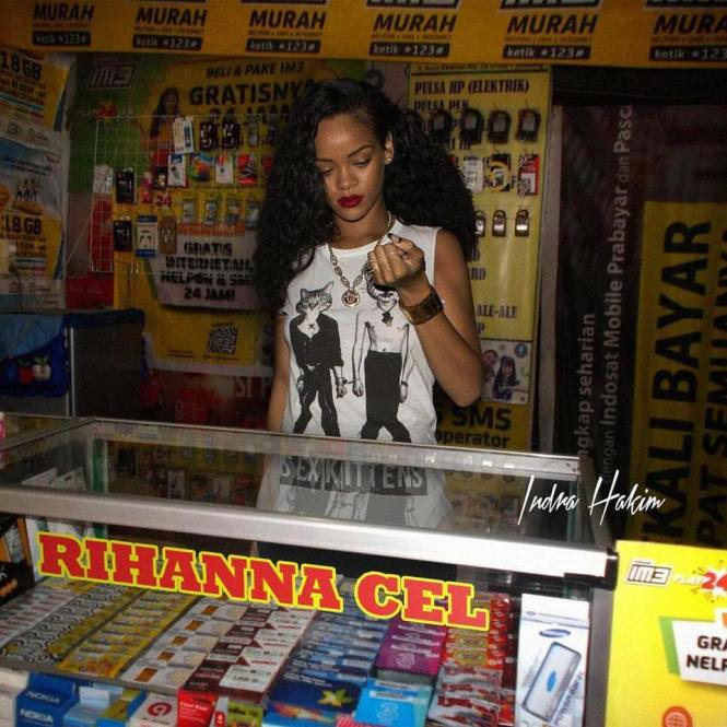 Ketika Rihanna jualan pulsa~