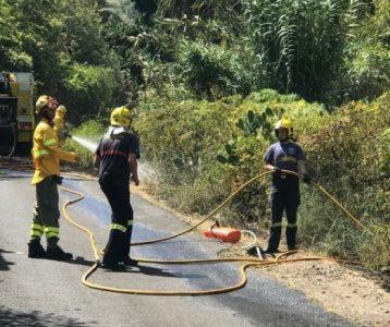Feuer in Brena Alta - Waldbrandrisiko