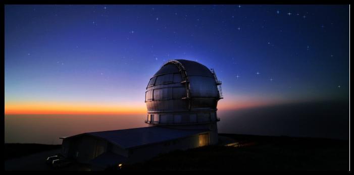 Grantecan La Palma - interstellaren Kometen