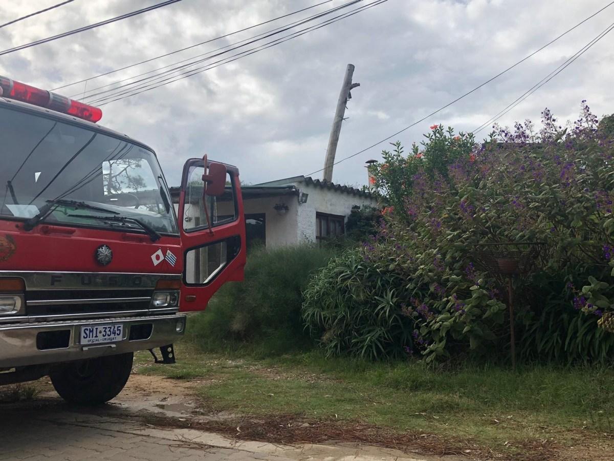 Incendio con pérdidas parciales en vivienda de La Paloma