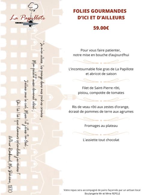 MENU 59€ - 08-21