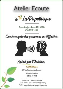 Activités - Atelier écoute @ La Papothèque