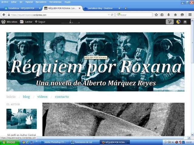 Réquiem por Roxana, portada del blog