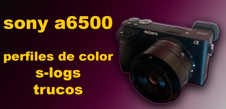 SONY a6500: PERFILES, S-LOGs Y TRUCOS