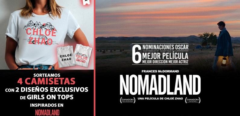 Sorteamos cuatro camisetas de 'Nomadland' diseñadas por Girls on Tops