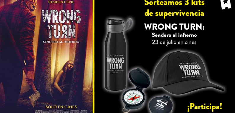 Sorteamos 3 packs de supervivencia de 'Wrong Turn: Sendero al infierno'
