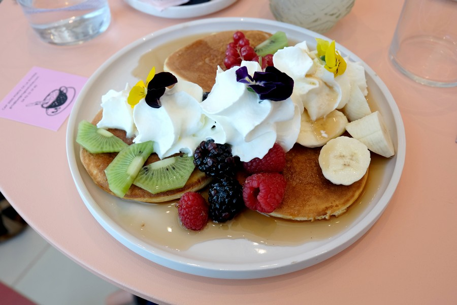 Pancakes aux fruits