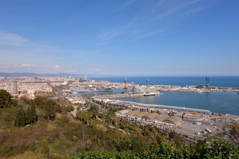 Le panorama depuis Montjuïc