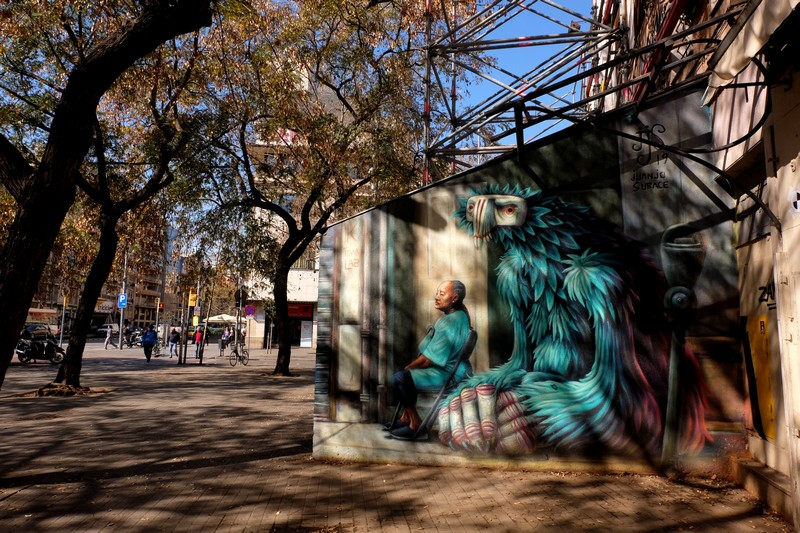 Street-art de Juanjo Surace à Barcelone