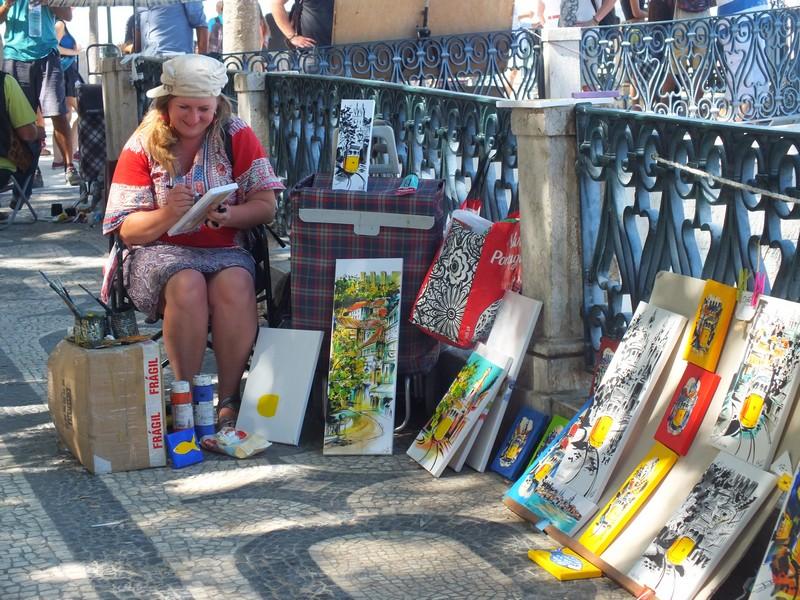 Artiste de rue au Bairro Alto