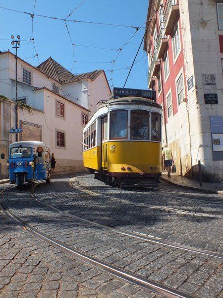 Le tramway à Lisbonne