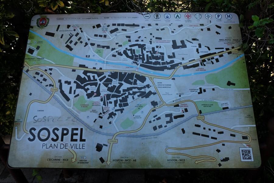 Carte du village de Sospel