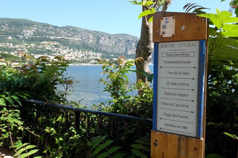 Sentier du littoral à Saint-Jean-Cap-Ferrat